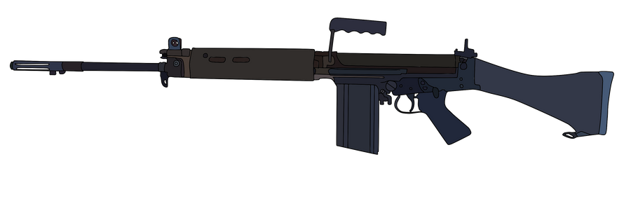 L1a1 Self Loading Rifle By Whellerng On Deviantart