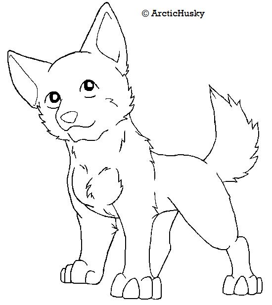 Line Art Dog : Free dog lineart by arctichuskie on deviantart