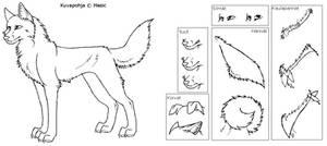 Dog lineart