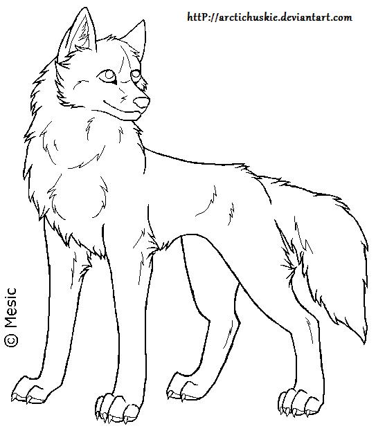 Line Art Dog : Dog lineart by arctichuskie on deviantart