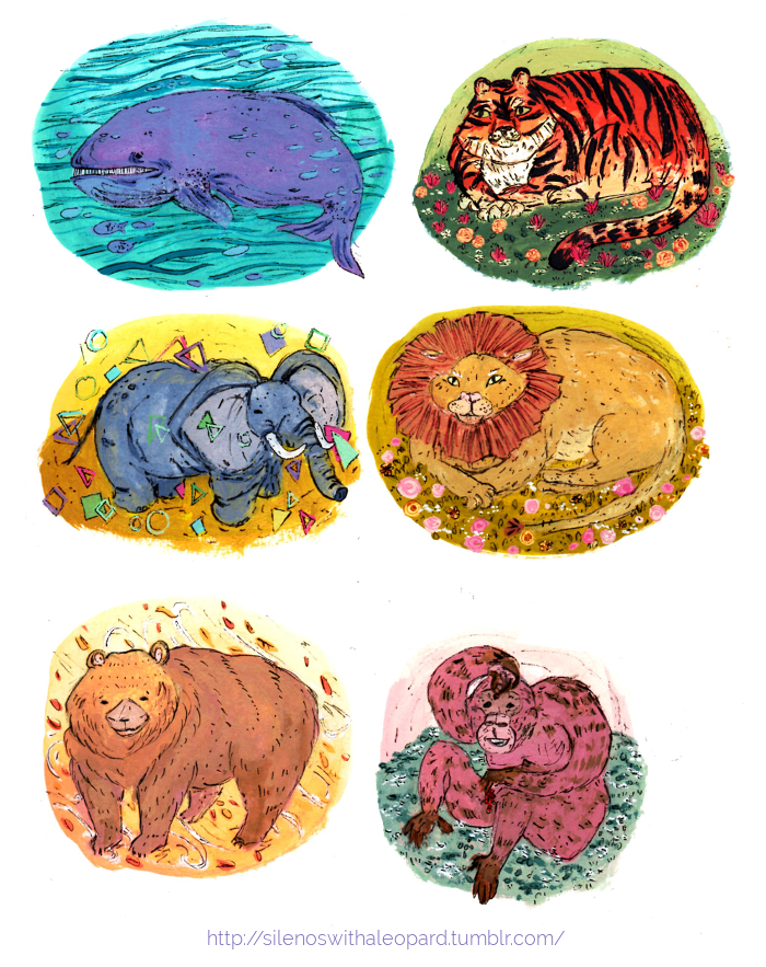 Animal Stickers by silenoswithaleopard