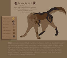 Lonesabre ref by DawnFrost