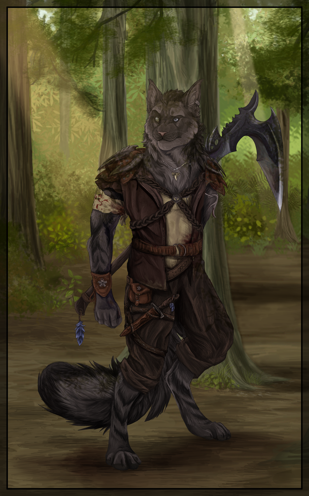 Forest Warrior by DawnFrost