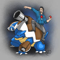 MEGA BLASTOISE!!!! by chevy1616