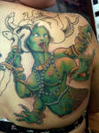 medusa tattoo in progress