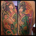 geisha 8 and child