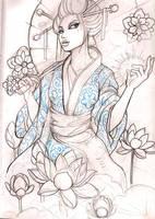 geisha 10 sketch by mojoncio