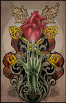 nouveau school tattoo design 2