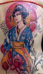 geisha tattoo 10 in progress