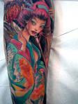 geisha tattoo 11 in progress