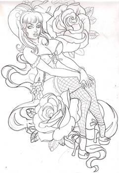 pinup sketch