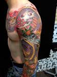 dragon tattoo side by mojoncio