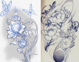lotus sketchs by mojoncio