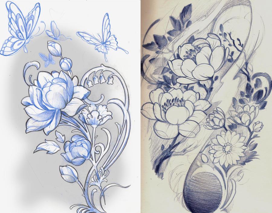 Japanese Lotus Flower Drawings | www.imgkid.com - The ...