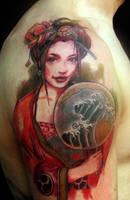 geisha 16 WIP by mojoncio