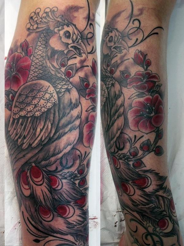 peacock tattoo by mojoncio