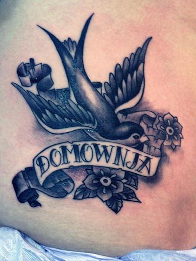 swallow tattoo by mojoncio on deviantart