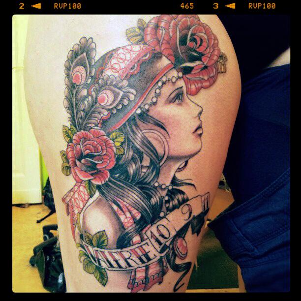 gypsy girl tattoo by mojoncio