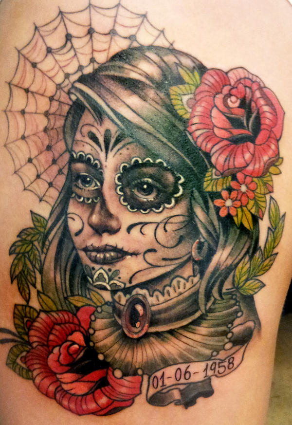 Day Of The Dead Tattoo 5 By Mojoncio On Deviantart
