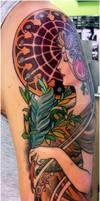 mucha tattoo .le plume2