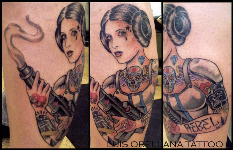 star wars tattoo by mojoncio