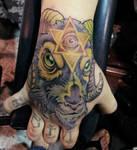evil goat tattoo