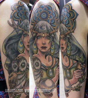 gipsy girl tattoo