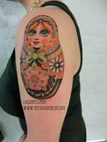 matroschka tattoo by mojoncio