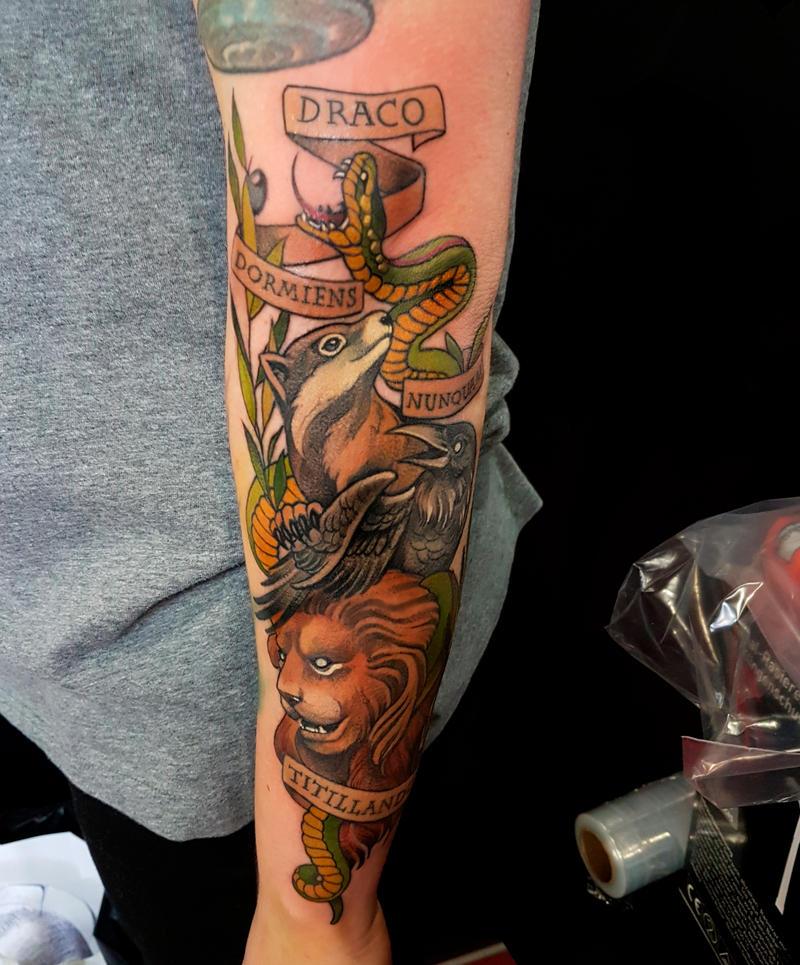 Harry Potter tattoo by mojoncio
