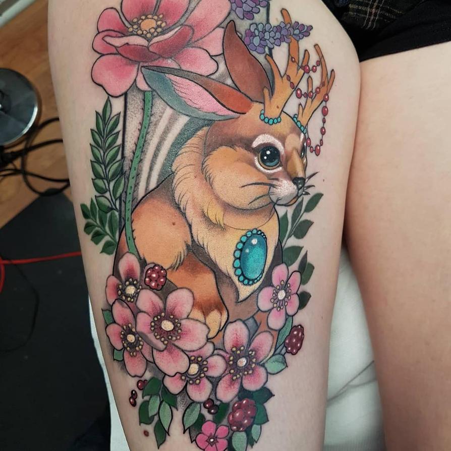jackalope tattoo by mojoncio on deviantart