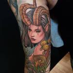 Forest goddess tattoo