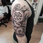 Watch compass tattoo
