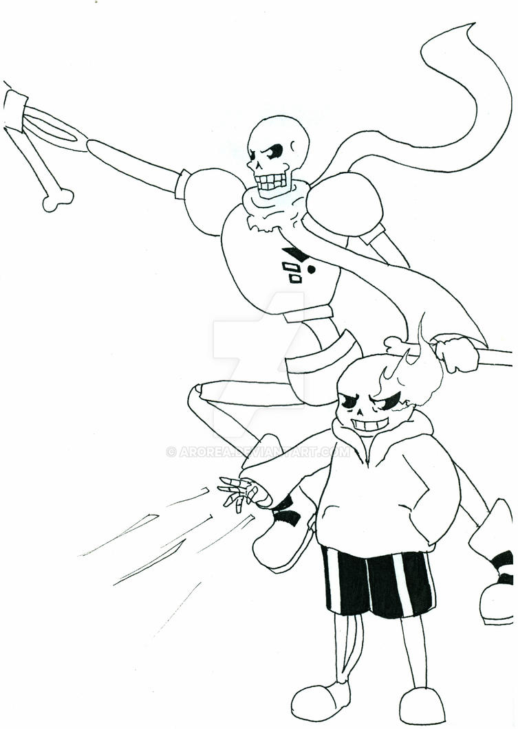 Sans and Papyrus by Arorea