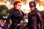 Black Widow and Daredevil cosplay