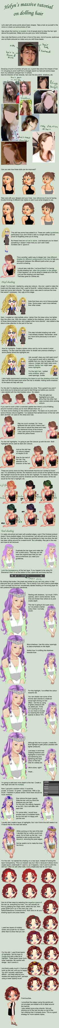 Dolling hair