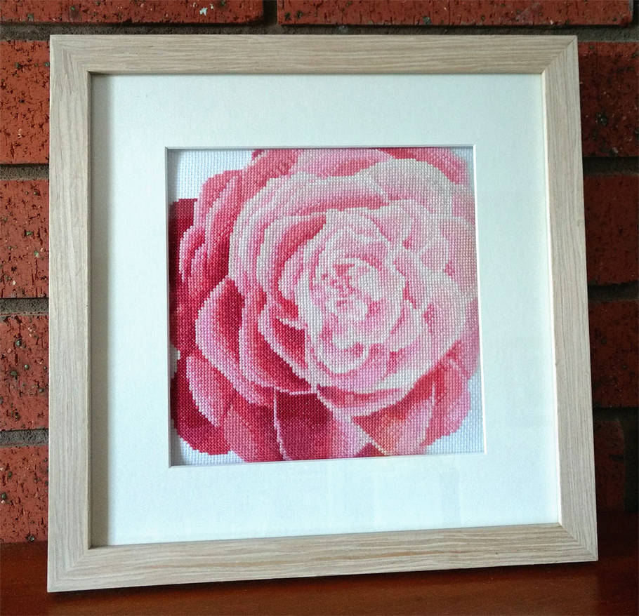 Camellia Flower Cross Stitch by SmiteTheeWithApples