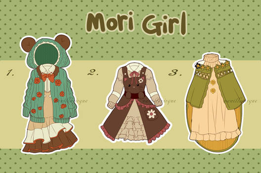 [Mori Girl] Outfit Adoptables [CLOSED]
