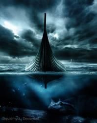Jormungandr, the Sea Snake by liquidmyst