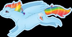 MLP Rainbow Dash by silveredraincloud