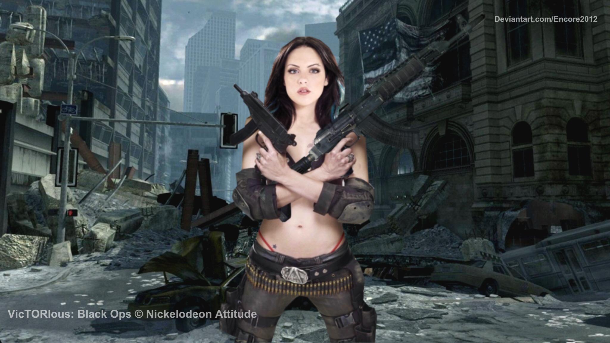Elizabeth Gillies AK-47 by Encore2012