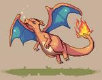 Pixel Charizard! by Azelleca