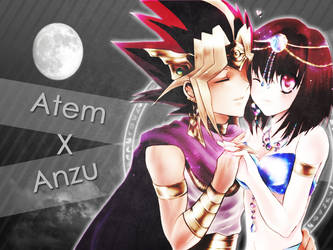 AtemxAnzu Love Background by Gerezada
