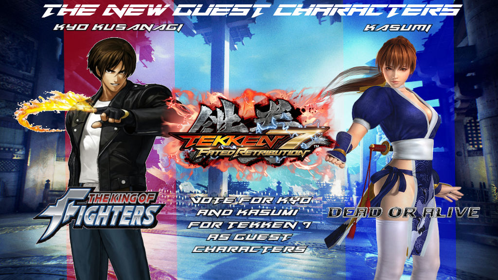 T7FR - Kyo and Kasumi Voting Poster by XElectromanX10 on
