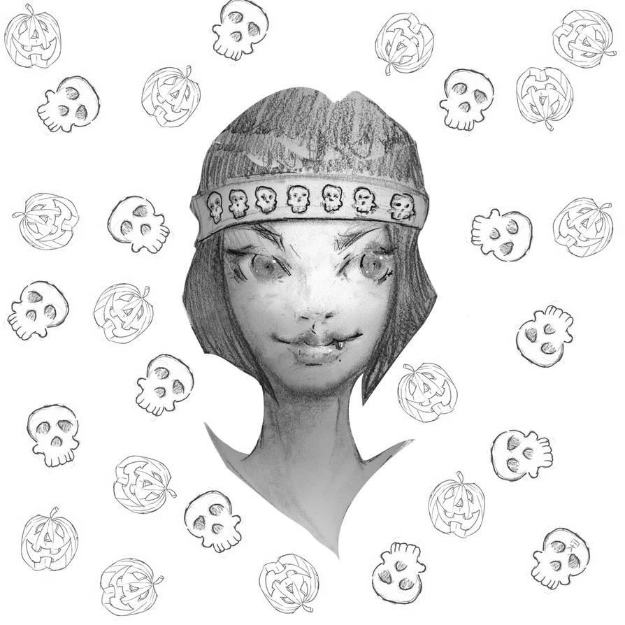 Halloween doodle 02 by AleksanderKusmierek