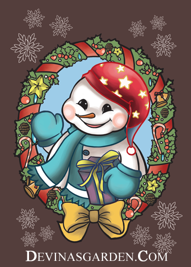 Happy Snowman by L-Ange-Noir