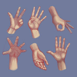 Life drawing Hands 03