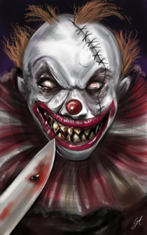 Horror Collection - Evil Clown by artgeorge on DeviantArt |Creepy Clown Painting