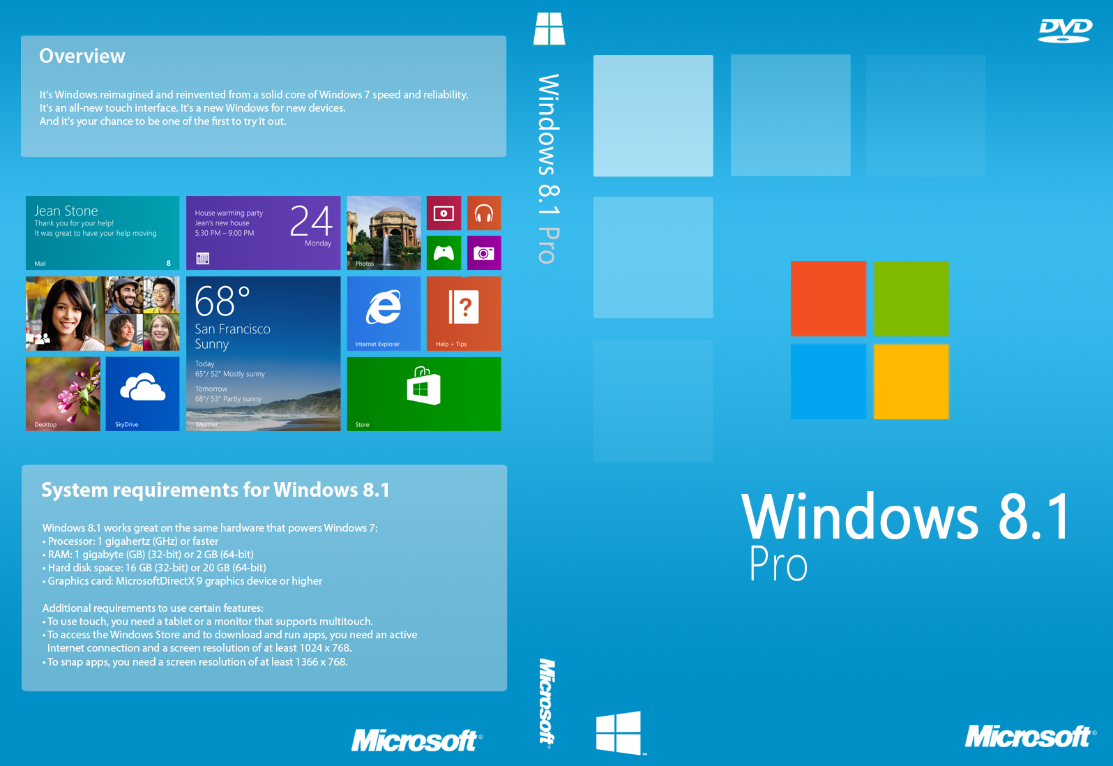 Windows 8.1 Pro Cover (Unofficial) by joostiphone