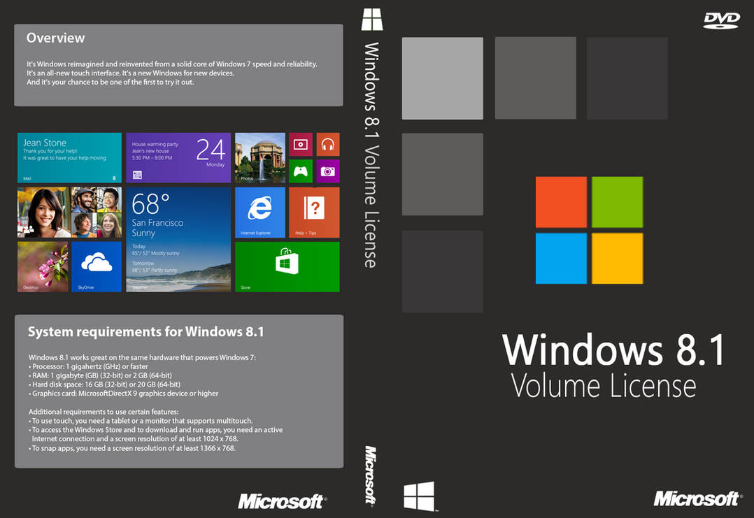 Windows 8 1 Volume License Cover (Unofficial) by joostiphone