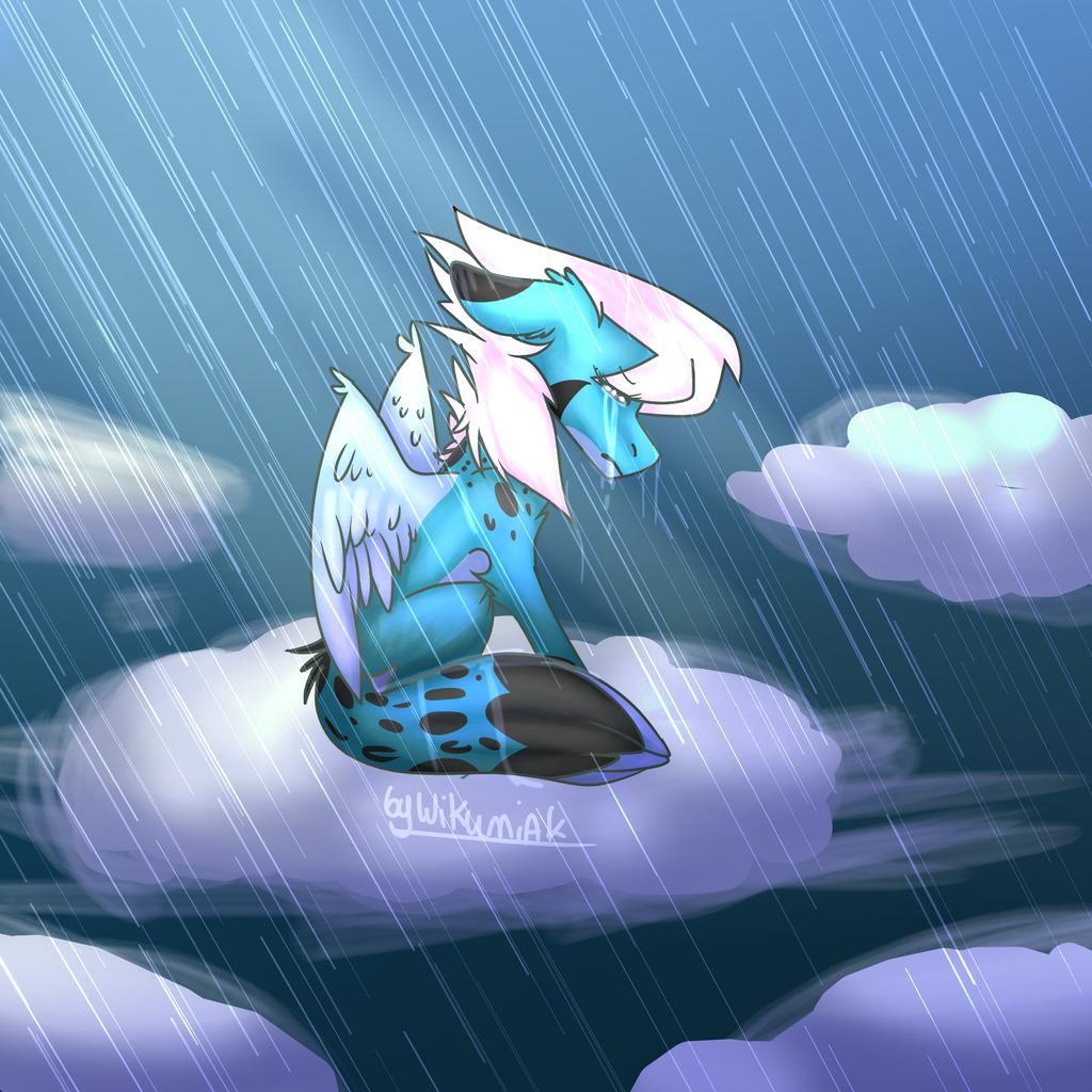 Manon in Rain [Redraw] by WIKUNIAK2